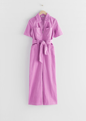 And other stories Corduroy Knot Belt Jumpsuit