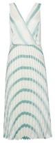Dorothy Perkins Womens Luxe Mint Stripe Pleat Wrap Dress