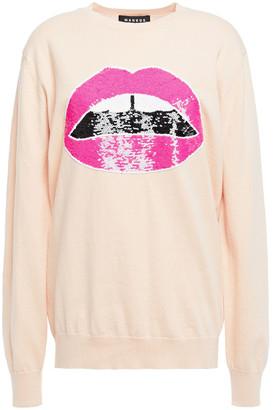 Markus Lupfer Sequin-embellished Cotton Sweater