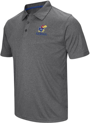Colosseum Men's Heathered Gray Kansas Jayhawks Cut Shot Polo