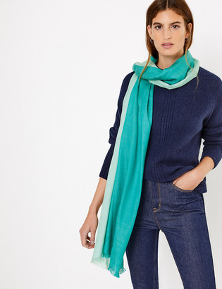 Marks and Spencer Spliced Colour Block Pashminetta Scarf