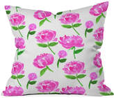 "Deny Designs Rebecca Allen Peonies in Bloom 16"" Square Decorative Pillow"