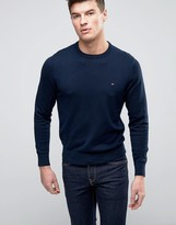 Tommy Hilfiger Crew Sweater Cotton Small Logo