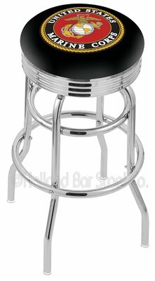 "Holland Bar Stool US Armed Forces 25"" Swivel Bar Stool Branch: Marines"