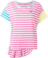 Tsumori Chisato stripe frill hem T-shirt - women - Cotton - S