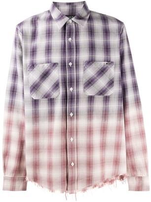 Amiri Two-Tone Checked Shirt