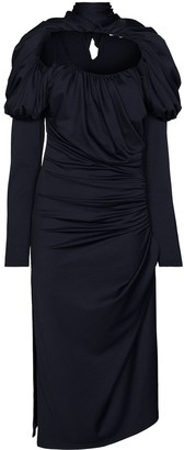 Richard Malone Ruched-Detailing Midi Dress
