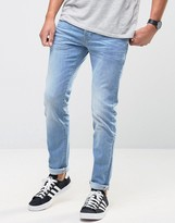 Firetrap Skinny Jeans in Light Wash Denim