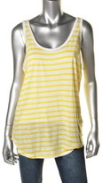 MICHAEL Michael Kors Womens Striped Scoop Neck Tank Top