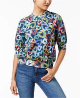 Love Moschino Printed Fleece Sweatshirt