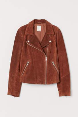 H&M Suede Biker Jacket - Orange