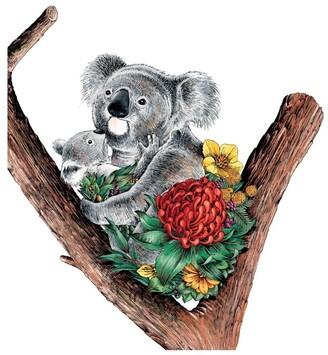 Maxwell & Williams Marini Ferlazzo Australian Families Tea Towel 50x70cm Koala Cuddle