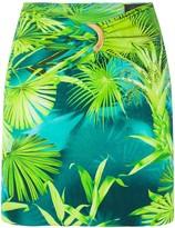Versace jungle print mini skirt