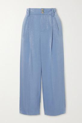 Vince Satin Straight-leg Pants - Blue