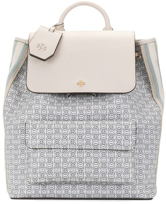 Tory Burch Chain Link-Print Backpack