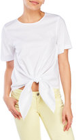 Necessary Objects Tie-Front Poplin Blouse