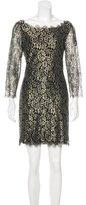 Diane von Furstenberg Metallic Lace Dress w/ Tags
