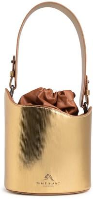 Thale Blanc, Llc. Dune Mini Bucket Bag In Gold