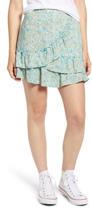 Kirious Floral Ruffle Hem Miniskirt