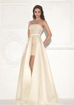 Tarik Ediz Strapless High Low Gown 92822