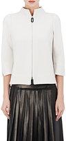 Giorgio Armani Women's Cashmere-Blend Jersey Jacket-IVORY