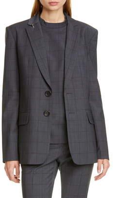 Tibi Windowpane Menswear Blazer