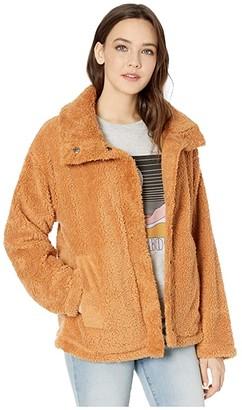 Billabong Cozy Days Sherpa Jacket (Antique White) Women's Fleece