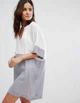 Echo Contrast Beach Dress