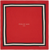 Fear Of God Red Logo Bandana