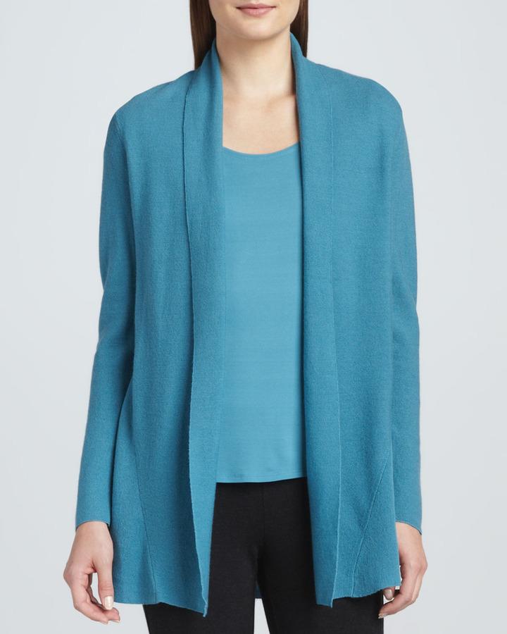 Eileen Fisher Merino Wool Links Cardigan