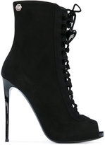 Philipp Plein Ermes Basic booties - women - Leather/Suede - 36