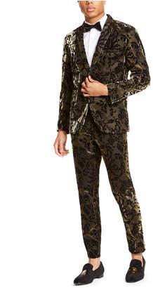 INC International Concepts Inc Men Slim-Fit Flocked Metallic Blazer