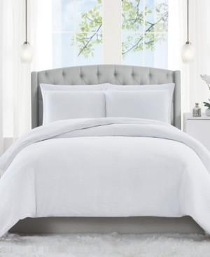 Charisma Solid Matelasse 3 Piece Queen Comforter Set Bedding