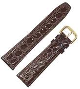 Dakota Men's 62862 Quartz Water Resistant, Croc Grain, Genuine Leather Padded Watch Band (13 mm, 16 mm, 18 mm, 19 mm, 22 mm, 24 mm, 26 mm), 22 mm