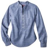 Merona Women's Chambray Pullover Shirt - Blue Denim