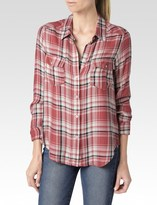 Paige Mya Shirt - Cedar/Cream/Evening Blue Plaid