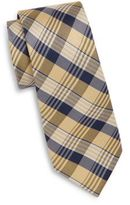 Saks Fifth Avenue Tri-Plaid Silk Tie