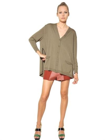 Kenzo Light Wool Knit Oversize Cardigan