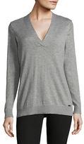 Calvin Klein Cross V-Neck Sweater