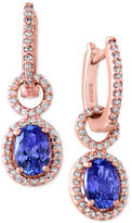 Effy Tanzanite Royale by Tanzanite (1-1/3 ct. t.w.) and Diamond (1/3 ct. t.w.) Drop Earrings in 14k Rose Gold