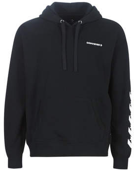 Converse REPEATED STAR CHEVRON PO HOODIE men's Sweatshirt in Black