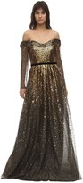 Marchesa Gradient Sequined Gown