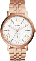Fossil Women's Gazer Rose Gold-Tone Stainless Steel Bracelet Watch 40mm ES4246