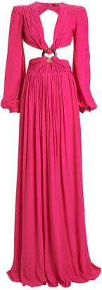 PatBO Neon Cut-Out Maxi Dress