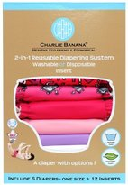 Charlie Banana Hybrid Cloth Diaper - Snap - Matthew Langille Girl - One Size by