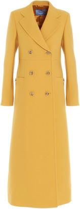 Prada Double Breasted Long-Line Coat