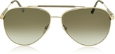 Tom Ford RICK FT0378 28J Gold Brown Metal Aviator Sunglasses