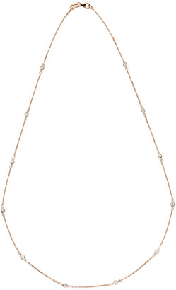 Suzy Levian Diamonds Suzy Levian 14K Rose Gold 0.30 Ct. Tw. Diamond Station Necklace