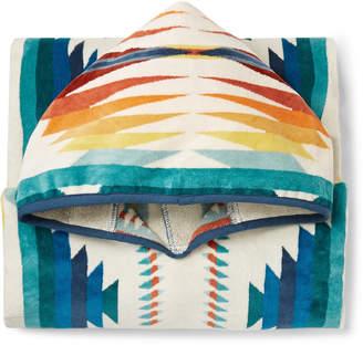Pendleton Cotton-Terry Jacquard Hooded Towel
