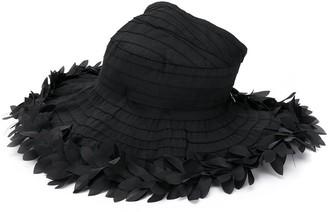 MonnaLisa floral appliqué sun hat
